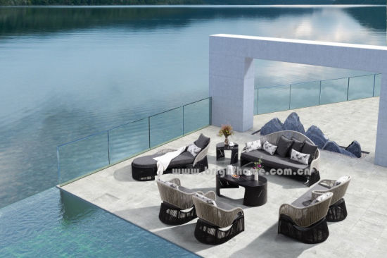 China Factory Supply Speciaal ontwerp Aluminium frame Tuinkabel HMade Outdoor Sofa Furniture