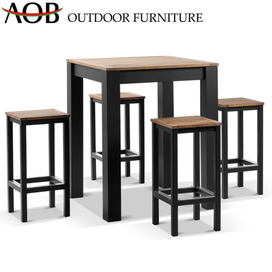 Wondrous China Modern Outdoor Garden Home Hotel Resort Aluminum Teak Bistro Bar Stool Table Chair Furniture Squirreltailoven Fun Painted Chair Ideas Images Squirreltailovenorg