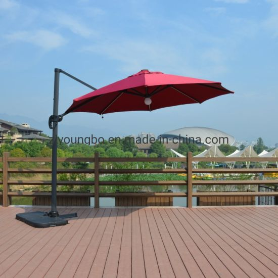 China 3.0m-8 Luxury Outdoor Patio Big Roma Parasol with LED Lighted Bar