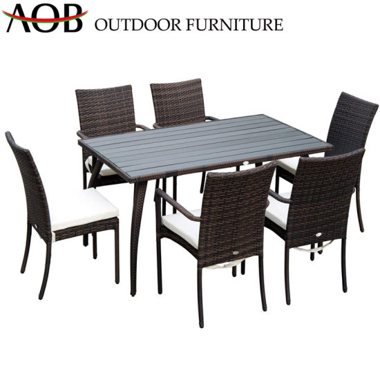 China Contemporary Outdoor Dining Table Leisure Chair Garden Patio Restaurant Hotel Teak Furniture