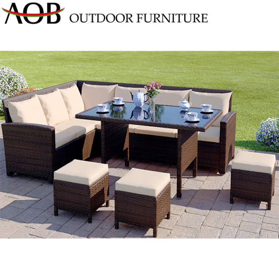 China Red Sofa Sets Outdoor Garden Furniture New Design Patio Lounge Sofa pictures & photos