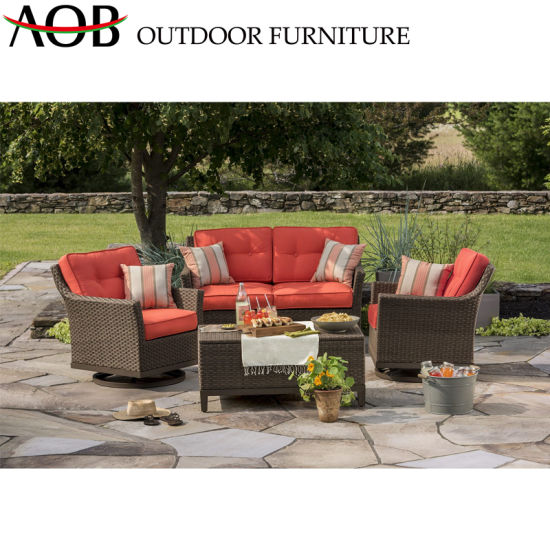 China Red Sofa Sets Outdoor Garden Furniture New Design Patio Lounge Sofa