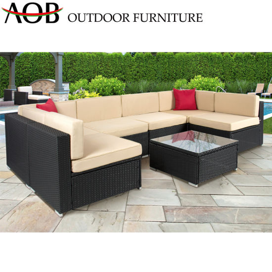 Magnificent China Wicker Rattan Outdoor Furniture Corner Lounge Sofa Sets Hotel Patio Poolside Villa Sofa Pabps2019 Chair Design Images Pabps2019Com
