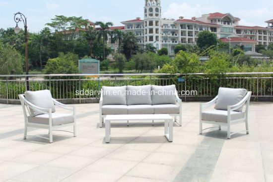 China Dw-Sf1908 Aluminium Frame Fräizäit Sofa Set Outdoor Miwwelen