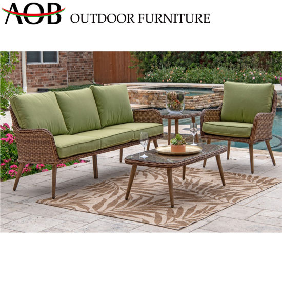 China Corner Sofa Sets Rattan Wicker Garden Furniture Outdoor Hotel  Poolside Balcony Sofa