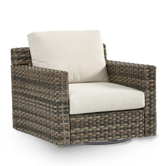 China Knock Down Rattan Swivel Glider Sofa Outdoor Garden Patio Furniture
