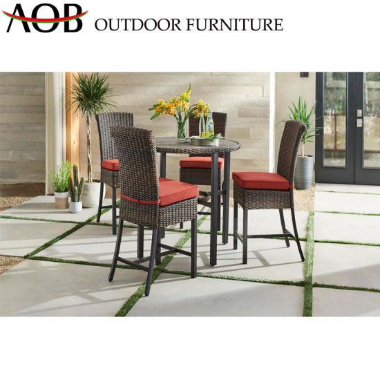 China 5-Piece Dining Set Outdoor Patio Garden Furniture Rattan Wicker Hotel Restaurant Dining Sets pictures & photos