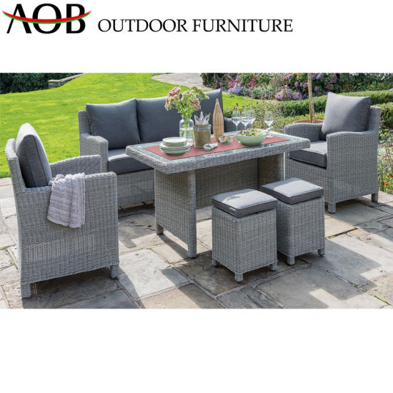 Surprising China Patio Furniture Outdoor Garden Rattan Dining Sets 2 Ottoman Hotel Restaurnat Furniture Uwap Interior Chair Design Uwaporg