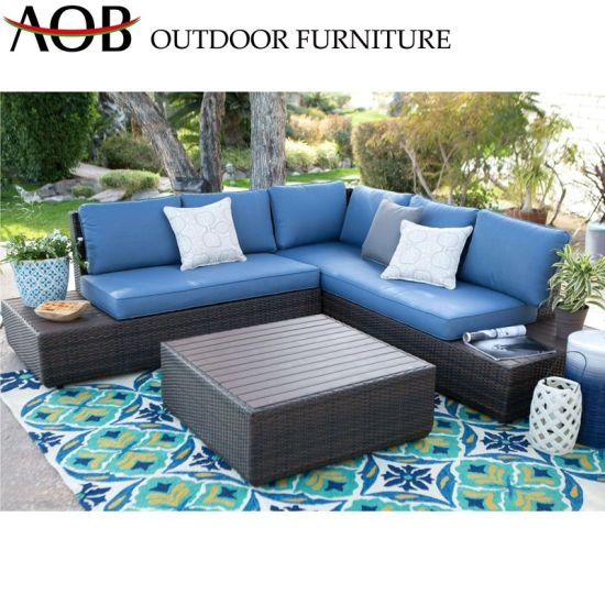 China Aluminum Corner Outdoor Furniture Hotal Villa Balcony Patio Sofa Sets pictures & photos