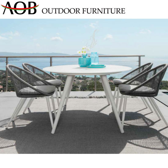 China Chinese Leisure Garden Furniture Sets Restaurant Rope Woven Customized Dining Chair pictures & photos