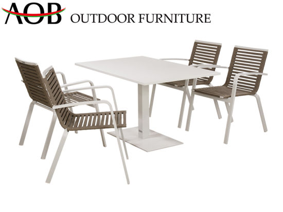China Chinese Modern Leisure Rope Dining Chair Set for Restaurant Hotel pictures & photos