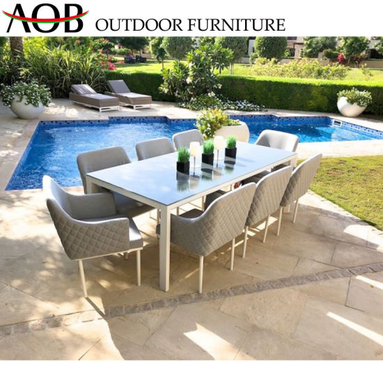 China Customized Leisure Garden Furniture Sets Restaurant Fabric Dining Chair pictures & photos