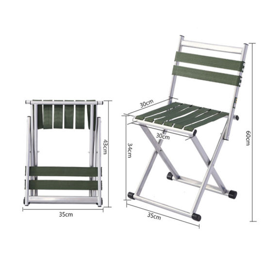 China New Outdoor Folding Stool Camping Chair with Backrest Fishing Chair Beach Chair Garden Chair L
