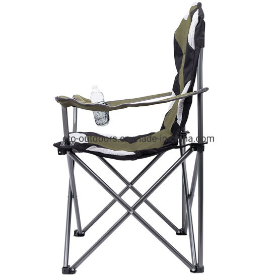 Surprising China Hevery Duty Steel Folding Camping Chair Garden Chair With Armrest Machost Co Dining Chair Design Ideas Machostcouk