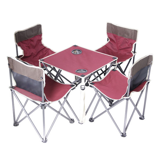 Pleasant China Portable Folding Camping Table With Cup Holders Tables Chairs Suit Set Bralicious Painted Fabric Chair Ideas Braliciousco