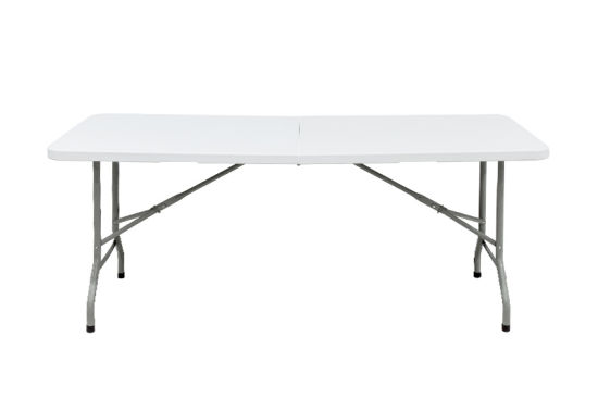 Folding Table With Handle.China 6 Foot Plastic Folding Table Folds In Half With Carrying Handle Rectangular Lightweight P