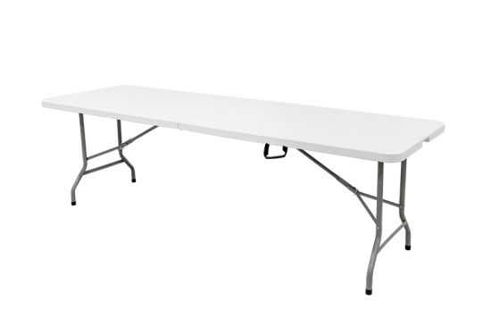 Folding Table With Handle.China 8 Foot Plastic Folding Table Folds In Half With Carrying Handle Rectangular Lightweight P