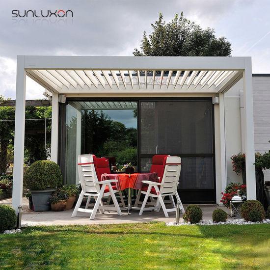 China Aluminum Modern Outdoor Sun Shelter Spa Motorized Pergolas