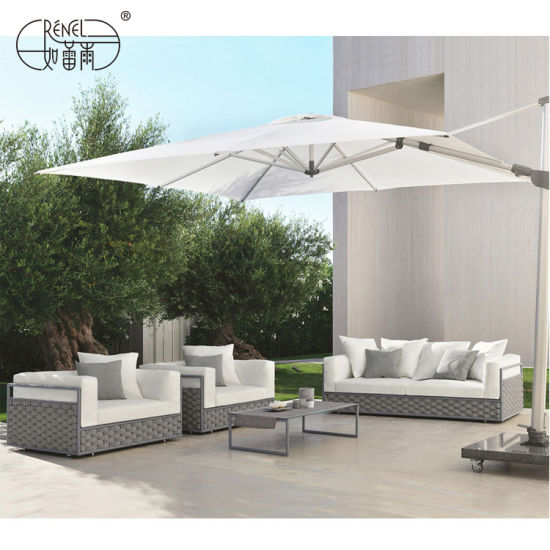 Saina Modern Indoor Home Hotel Outdoor Rope Rattan Fashion Patio Garden Furniture ma le Nofoa Leisure