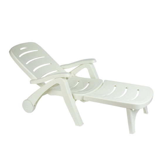 Strange China 5 Position Backrest Adjustable Plastic Outdoor Patio Chaise Lounge Chair With Wheels Armrest Ocoug Best Dining Table And Chair Ideas Images Ocougorg