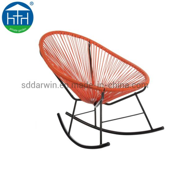 China Colorful PE Rattan Wicker Acapulco Chair with Steel Leg for Outdoor Furniture