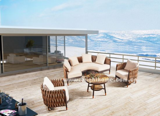 China New Design Outdoor Wicker Sofa Set