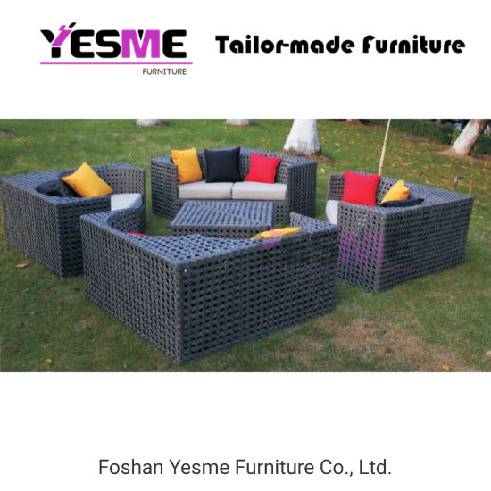 China Garden Sofa Metal Frame Rattan Lounge Furniture Hotel Outdoor Sofa