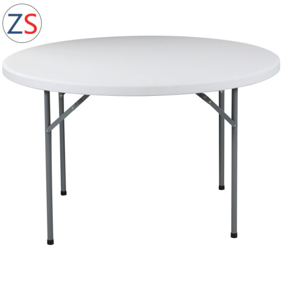 China HDPE Resin Foldable 122cm Round Table Event pictures & photos