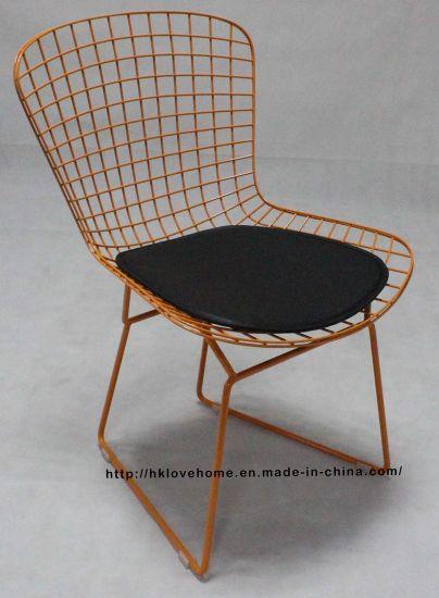 China Modern Restaurant Furniture Outdoor Metal Wire Dining Garden Chair