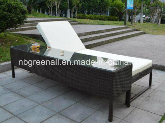 China Outdoor Double Rattan Sun Lounge pictures & photos
