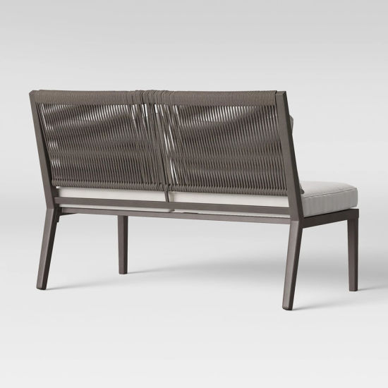 China Simple Comfortable Gray Patio Outdoor Metal Rattan Loveseat Sofa Chair pictures & photos