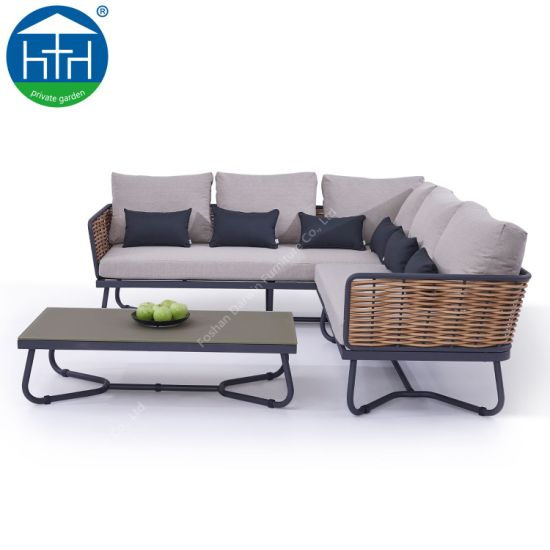 China Special Modern Aluminum Outdoor Sofa Set with Cushion