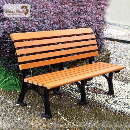 China Wholesale 3 Foot Metal Legs Park Bench Garden Bench WPC Outdoor Waiting Bench pictures & photos