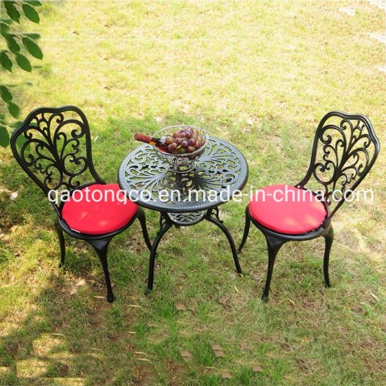 Vintage Bistro Set Cast Aluminium Furniture Outdoor Garden Patio 2 Chairs Table