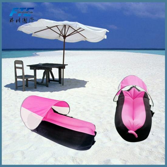 China 250*70cm Fast Inflatable Air Sofa 210d Lazy Sleeping Bag