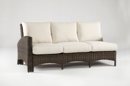 China Outdoor Rattan Furniture Knock Down Sofa with L Arm