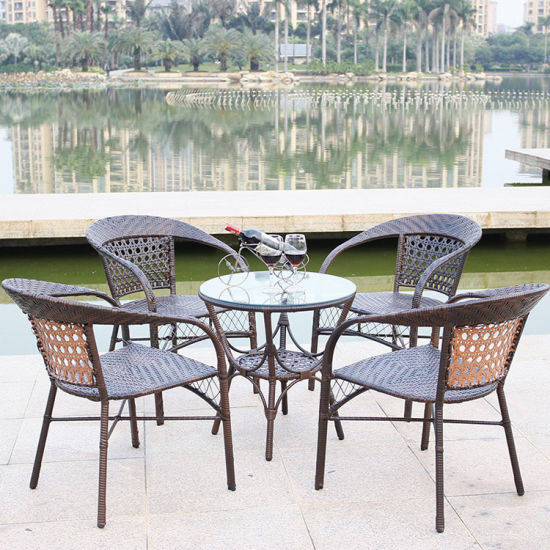 China Outdoor Simple Light Superimposed Table Chair for Garden