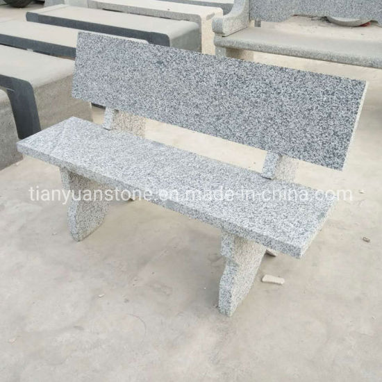 China Chinese Polished G603 Light Grey Granite Garden Stone Bench