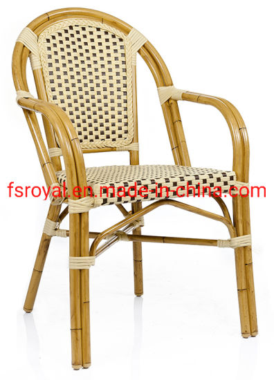 China French Style Wedding Dining Hotel Antique Bamboo Look Outdoor Garden Chair