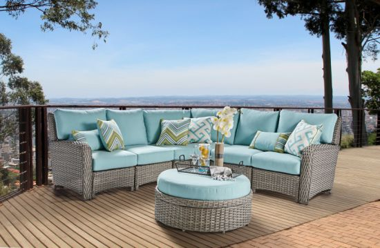 China Outdoor Garden Furniture Kd Synthetic Sectional Sofa
