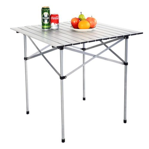 China 70cm Roll up Portable Folding Camping Square Aluminium Picnic Table
