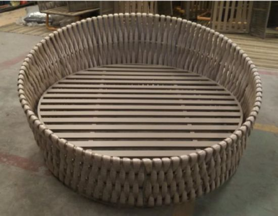 China 1.8m Round Outdoor Rope Sun Lounger Outdoor Lying Bed outdoor Furniture pictures & photos