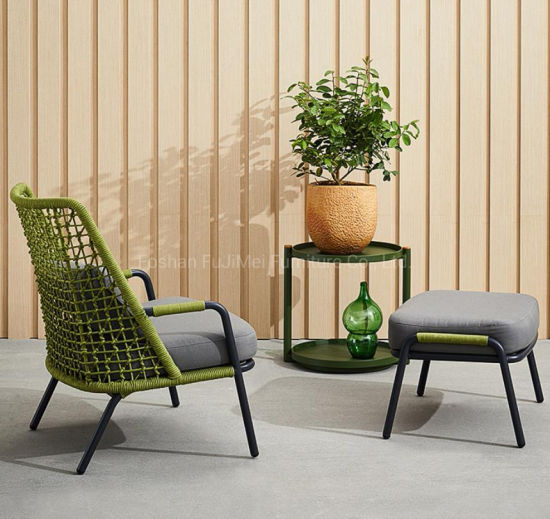 China 2019 Outdoor Furniture Rope Furniture Patio ngwá ụlọ