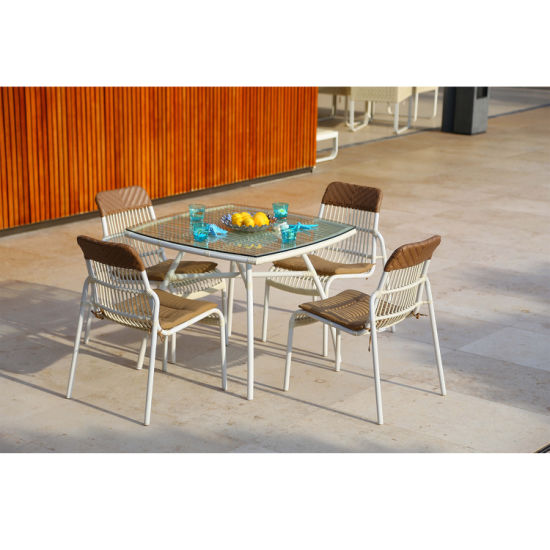 China Myx Outdoor Rattan Simple Design Modern Metal Dining Chair