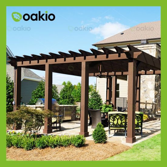 China Wood Plastic Composite Outdoor Pergola
