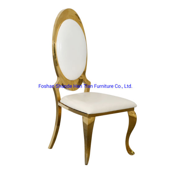 China Modern Colorful Coffee Table Set Dining Chairs Gold with White Wedding Garden Chairs