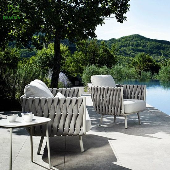 I-China Latest Leisure Waterproof Bistro Terrace Woope Rope Hilton Aluminium Ifenisha Yangaphandle