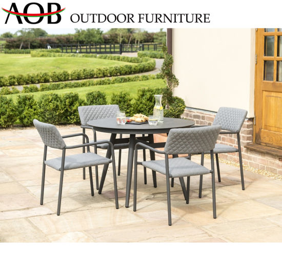 China Leisure Garden Furniture Sets Restaurant Rope Woven Dining Chair