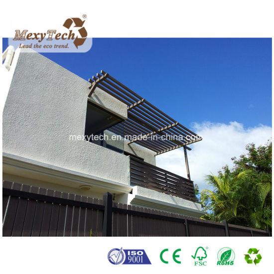 China Outdoor Customized WPC Wood Pergola Roof Awning