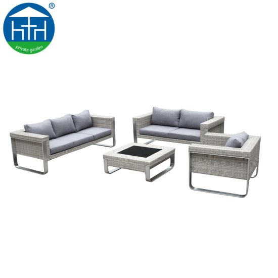 China Fashion Stylish Aluminium Garden Sofa Water Proof Patio Sofa Set Outdoor